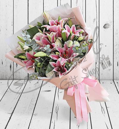 Lilium rosados