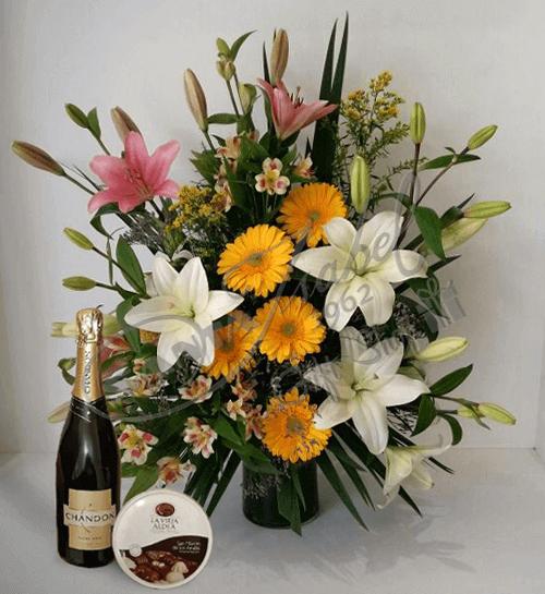 Arreglo floral con adicionales