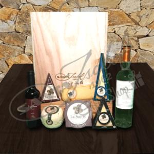 Selección de vinos y quesos